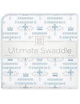 SwaddleDesigns Ultimate Receiving Blanket, Little Prince, Pastel Blue