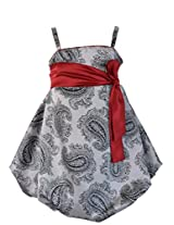 FAYE Grey & Black Balloon Dress 4-5 Years
