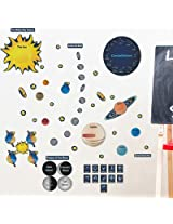 Mona Melisa Designs Peel, Play and Learn Wall Play Set, Solar System
