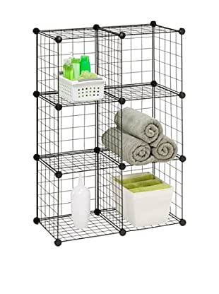Honey-Can-Do 6 Pack Modular Mesh Storage Cubes, Silver