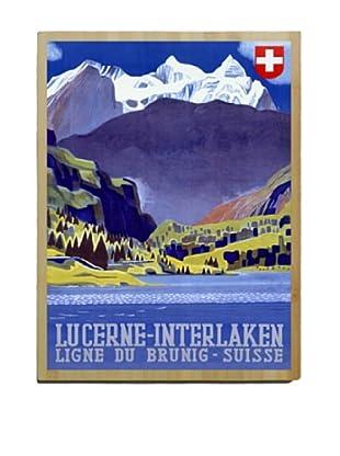 Artehouse Lucerne-Interlaken Bamboo Wood Sign