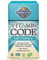 Garden of Life Vitamin Code Raw Vitamin E, 60 Capsules