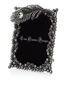 """Lisa Carrier Silver 3"""" x 5"""" Feather Frame"""