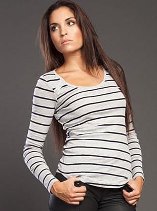 Ikks Camiseta Rayas (gris)