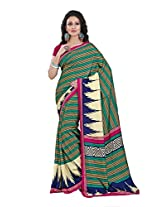 Gugaliya Embellished Fashion STRIPPED Malgudi Art Silk saree (1367 A )