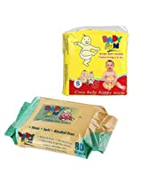 Baby Fun Diapers with Baby Fun Wipes- Small