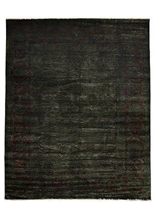 Darya Rugs Overdyed Oriental Rug, Green, 11' 6