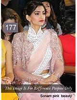 Sonam Kapoor Pink Net Bollywood Saree