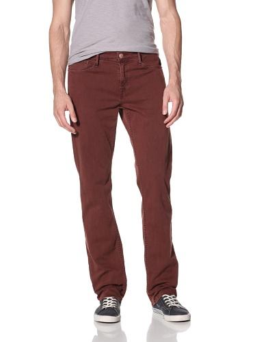 Earnest Sewn Men's Fulton Zip Stretch Twill Jeans (Cayenne)