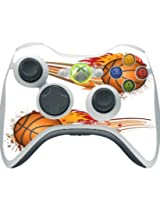 > > Decal Sticker < < Cool Basketball Balls On Fire Design Print Image Xbox 360 Wireless Controller Vinyl Decal Sticker Skin By Trendy Accessories