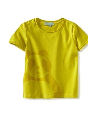 Zolima Panda Girl's T-Shirt (Warm Olive)