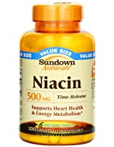 Sundown Naturals Niacin 500 Mg Time Release Caplets Value Size, 200 Count