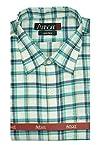 Arihant Men's Formal Linen Rich Blue Micro Checkered Shirt,Size 38