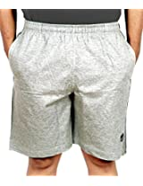 Scorpion Mens Cotton Shorts -Grey Melange -Medium