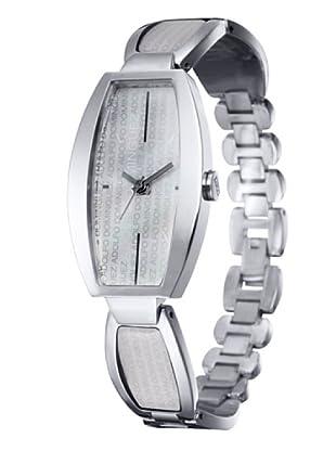 Adolfo Dominguez Watches 69102 - Reloj de Señora cuarzo brazalete metálico caja acero dial Blanco Nacarado