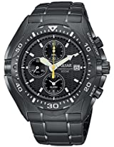 Pulsar Men's PF3663 Tech Gear Alarm Chronograph Black Ion Watch