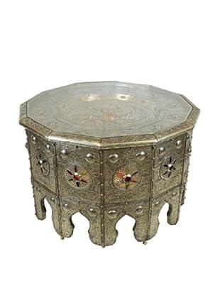 Badia Design Moroccan Lighting Table, Silver