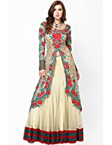 Embroidered Cream Lehengas Parul Grover