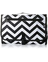 3 Bees & Me Portable Diaper Changing Pad Station with Mat for Travel, Chevron