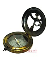 Antique Maritime Stanley London Black Brass sundial compass Vintage Collectible