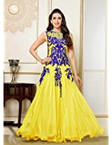 Karishma Kapoor Designer Yellow Anarkali Suit By Fabfiza