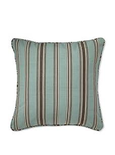 Mystic Valley Traders Aqua Stripe Pillow (Teal/Brown)
