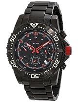 red line Men's RL-50030VK-BB-11RD Racer Black Stainless Steel Watch