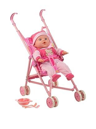Kidzcorner Bebé blandito con carrito Little Baby