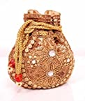 Golden Colour Traditional Potli Bag
