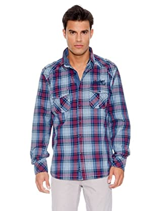 Pepe Jeans London Camisa Grafton (Azul / Rojo)