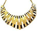 Pharaoh Stunner Necklace (Black & White)
