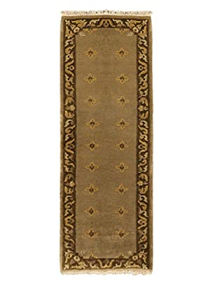 Hand-Knotted Karma Wool Rug, Brown, 2' 5
