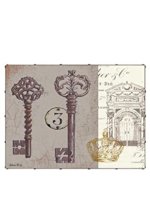 "Kathryn White Key to Secret Garden No. 1 Hand-Embellished Canvas, 24"" x 32"""