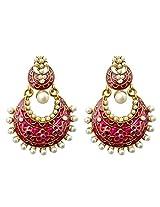 Dhwani Creation Drop Alloy Earrings For Girls and Women (Purple)