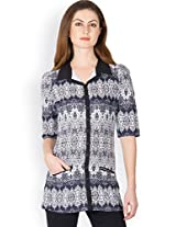 Ayaany Black Cotton Dress for Women (Size: Small)