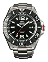 Orient Diving Sports M-Force Automato Men Black Dial Silver Metal Strap Round Shape, Made in Japan