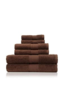 Terrisol 6-Piece MicroCotton Bath Towel Set (Chocolate)