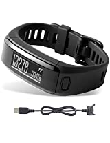 Garmin vivosmart HR Activity Tracker X-Large Fit Black Charging Cable Bundle includes vivosmart HR and Charging Cable