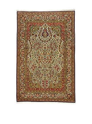 L'Eden del Tappeto Teppich Qom lehmbraun 316t x t203 cm