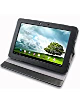 JKase (TM) Executive Series ASUS TF201 Eee Pad Transformer Prime 10.1-Inch 32GB / 64GB Custom Fit Multi-Angle Folio Case Cover with Invisible Stand (Black)