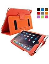 Snugg™ iPad Mini 4 Case - Smart Cover with Flip Stand & Lifetime Guarantee (Orange) for Apple iPad Mini 4 (2015)