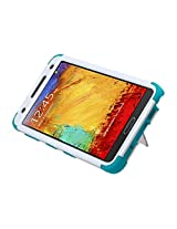 MyBat Samsung N900A Galaxy Note 3 TUFF Hybrid Phone Protector Cover with Stand - Retail Packaging - White/Teal