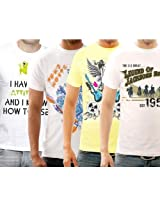 Funktees Best Prices Mens L Size Cotton T-Shirts - Pack of 4