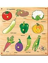 Kinder Creative KCS 03 10 Vegetables with Knobs, Multi Colour