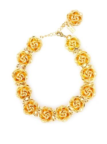 Tuleste Market Rosette Choker Necklace, Gold