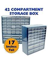 Trademark ToolsT Deluxe 42 Drawer Compartment Storage Box - Hardware Organization Storage