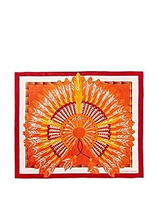 Hermès Beach Towel, Orange/White/Red