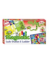 Annie Magnetic Ludo Snakes and Ladder, Multi Color