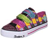 Skechers Girl's Shuffles Spaz Fashion Sneaker