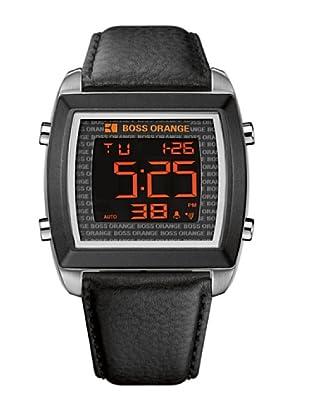 Boss Orange 1512609 - Reloj de Caballero movimiento de quarzo con correa de piel negra